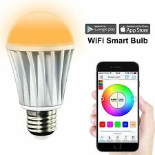 WIFI RGB Glühbirne Wireless LED Bulb hue Farbe per Smartphone ändern Smart Home