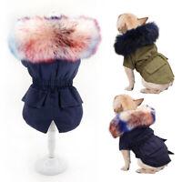 Chaqueta para perro Mascota Cuello de Piel sintética Ropa Lana Abrigo invierno