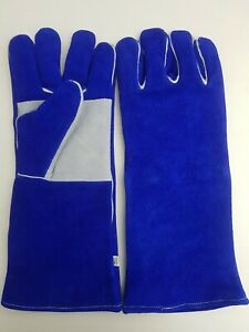 12 PAIRS Leather Stitched High Temp Stove / Welder Gloves CAT A+