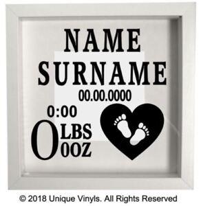 Personalised Baby Sticker, Newborn, Baby Gift, Name, Weight, Date, Baby Feet,