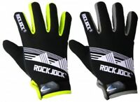 Mens Adults Rockjock Neon Thermal Gloves with Palm Grippers Fleece Lined Sport