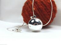 """Chime ball Harmony Angel Mexican Bola ball Necklace pendant 18""""+free 40""""SP chain"""