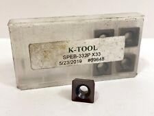 K Tool Speb 332p New Carbide Inserts Grade X33 5pcs