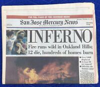 INFERNO Oakland Hills Fire Complete Newspaper October 21, 1991 Firestorm