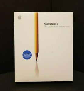 AppleWorks 6.2.7 Version in Box Retail, (Pre-owned)