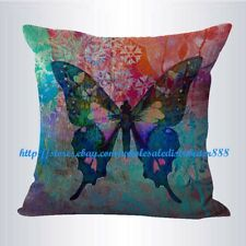 US SELLER- living room pillows for sale retro butterfly cushion cover