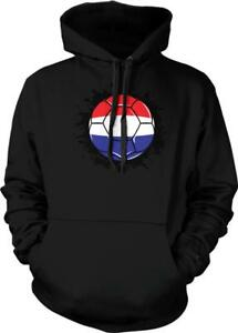 Netherlands Soccer Ball Splash Holland Football van Persie New Hoodie Pullover