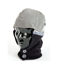 Zero Hood Thermal Detachable Winter Safety Helmet Liner - Grey - Frost Cold