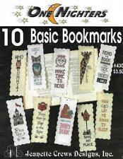 Bookmarks in Counted Cross Stitch One Nighters #430 Jeanette Crews 10 Designs