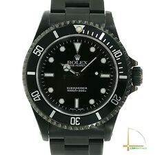 Rolex Submariner Watch Stainless Steel in Black PVD Coating 40mm 14060
