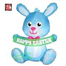 EASTER BUNNY BANNER 3.5 FT  AIRBLOWN INFLATABLE YARD DECORATION