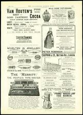 1889 Antique Print ADVERTISING THE MERIT TYPEWRITER PYRAMID NURSERY LAMP (43)