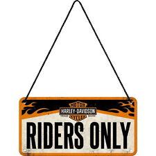 NOSTALGIE Hängeschild HARLEY DAVIDSON RIDERS ONLY Biker Motorrad NEU OVP