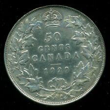 1929 Canada, King George V, Silver Fifty Cent Piece   L94