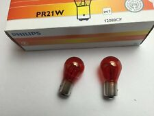 KIT 2 LAMP LAMPADE PHILIPS PR21W 12V 21W COLORE ROSSO LUCE STOP BAW15s