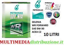 10 LITRI OLIO MOTORE ORIGINALE SELENIA WR FORWARD 0W30 C2 EURO 6 FIAT9.55535-DS1