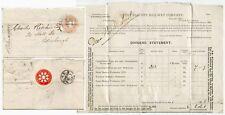 GB 1887 GREAT EASTERN RAILWAY LETTERSHEET COLOURED EMBOSSED FLAP PRINTED