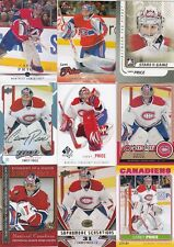 CAREY PRICE  a lot of 9 DIFFERENTS CARDS INSERTS  pinnacle  lot 1