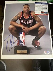 Damian Lillard Signed 8x10 inch Photo. Auto  PSA Portland Trail Blazers