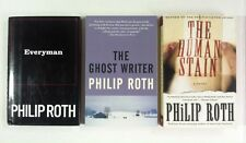 Lot 3 Philip Roth books Everyman, The Ghost Writer, Human Stain (2PB)