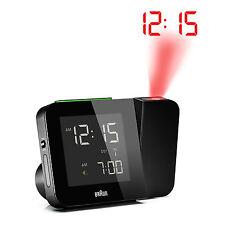 Réveil Quartz BRAUN Noir - Projecteur - Radio-Piloté - LCD - BNC015BK-RC
