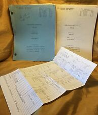 Harold Robbins 79 PARK AVENUE Part 1 & 2 TV Mini Series Script: Al Checco Estate