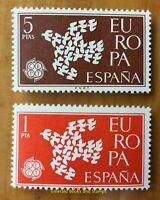 EBS Spain España 1961 Europa Dove of Doves - Paloma de palomas 1266-1267 MNH**