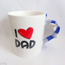 """DAD"" Ceramic Mug Novelty Tie Shaped Handle Christmas Xmas Gift Stocking Filler"