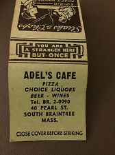 Sdel's Cafe S South Braintree Mass MA Matchbook Matchcover