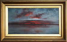 SAMUEL BARNES (1847-1901) RARE Oil Sunset 1892 British Tim Storrier J.M.W Turner