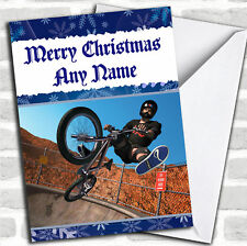 Cool Bmx Bike Christmas Customised Card