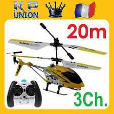 HELICOPTERE RADIOCOMMANDE RC TRES MANIABLE EN METAL 3.5Ch S107G IDEE CADEAU *48h