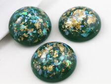 25mm Opaque Resin Cabochons | Glitter & Foil Detail | 8 Colours | 5pcs