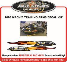 2003 SKI-DOO MACH Z  Trailing Arm decal set    Arms