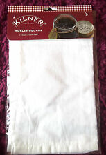 Kilner di mussola quadrati 50cm X 50cm 100% cotone per marmellata conserva gelatine ETC NUOVO