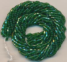 Stiftperlen   23 g  türkis-grün lüster   2,7 mm, Strang  Bugles Perlen (AZ1213)