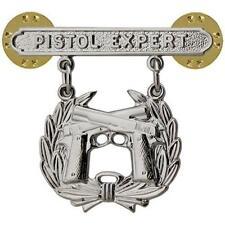 USMC Marine Corps Qualification Mini Badge Pistol Expert   (USMC Issue)