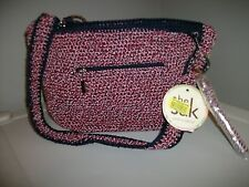 The Sak Casual Classics 106121 Anthm Hthr Crochet MD Shoulder Bag Purse NWT