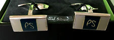 Paul Smith VERY RARE PS SOLID SILVER Cufflinks With Twisted Swings