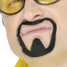 Black Goatee Mens Fake Beard Mustache Facial Hair Ali G TV Kenny Powers Costume