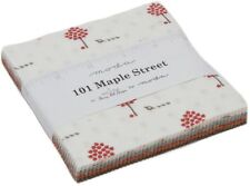 "101 Maple Street Moda Charm Pack 42 100% Cotton 5"" Precut Fabric Quilt Squares"