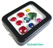 TOP GLASS DISPLAY BOX SAFE JEWELRY GEM DIAMOND COIN 8.5x6.5 CM NEW FREE SHIPPING
