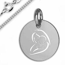 Gravurplatte Mutter/Kind -Silber925- Inkl. pers. Gravur und Kette- neu- 2