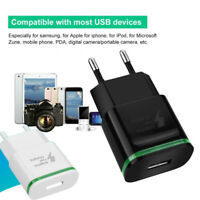 Quick Charge QC3.0 USB LED Mobile Phone Wall Home Travel Fast Charger EU Adapter