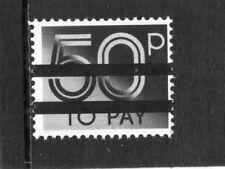 GB 1982 50p Postage Due School Training Stamp 2 Bar MNH