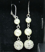 Avon President's Club Pearlesque Earrings Dangle Leverback