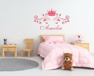Name Wall Stickers Personalised Name Princess Crown Stikers Stars