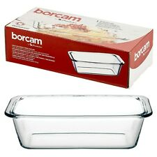 Pasabahce Borcam Rectangle Clear Glass Ovenware Non Stick Microwave Cooking Dish
