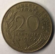 F.156 Monnaie Française 20 Centimes Marianne 1976 Achat Unitaire