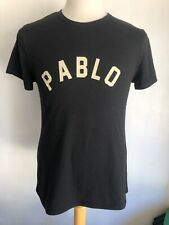 PABLO Basic Kanye West Pablo Escobar Men's Black T-Shirt Size Medium